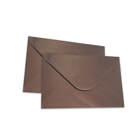 Pearlescent Envelopes C6 Dark Chocolate, Pack 1000