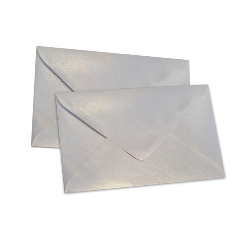 Pearlescent Envelopes C6 Snow White, Pack 1000