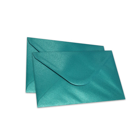Pearlescent Envelopes C6 Teal, Pack 1000