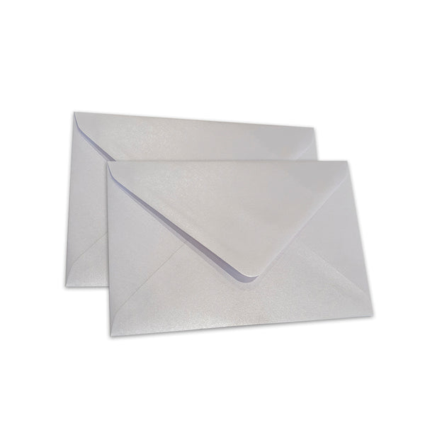Pearlescent Envelopes C6 White, Pack 1000