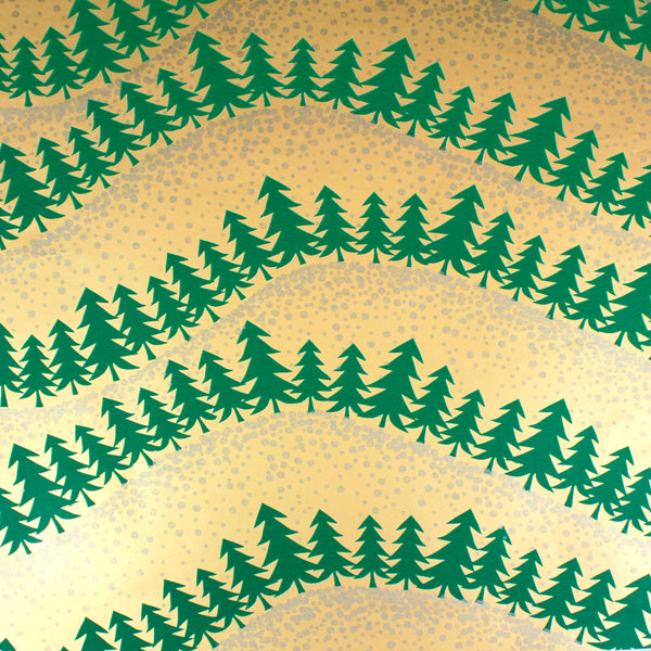 Forest Fascination in Gold/Green/Silver Counter Roll (100m x 30cm)