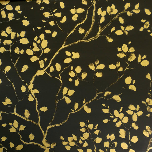 Forest Art Gold on Black Counter Roll (100m x 50cm)