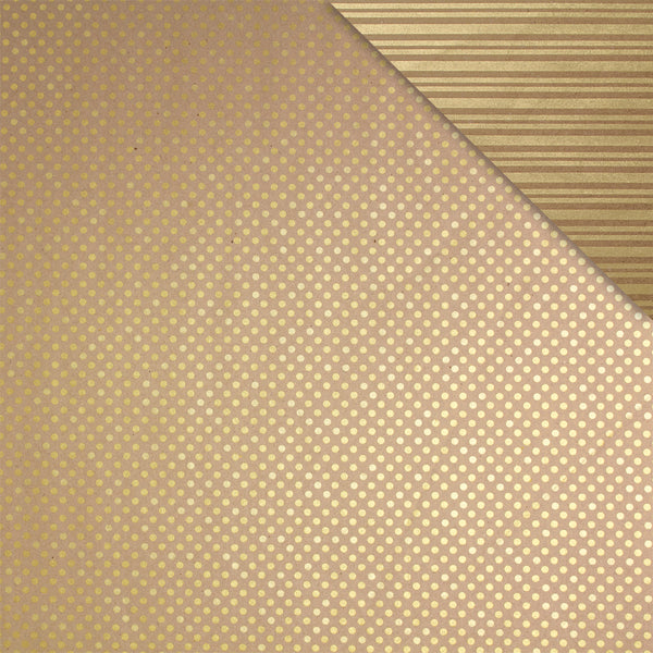 Eco-Spot Stripe Gold on Kraft Counter Roll (100m x 50cm)