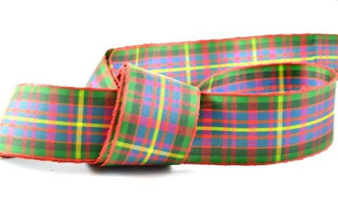 Cameron Red Tartan Ribbon, in a range of widths