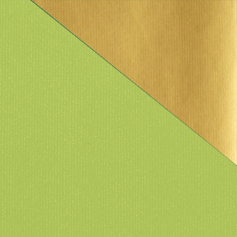 Kraft Colours Gift Wrap Sheets - Chartreuse/Gold Double-sided (250)