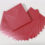 Pearlescent Envelopes Square Cherry, Pack 1000