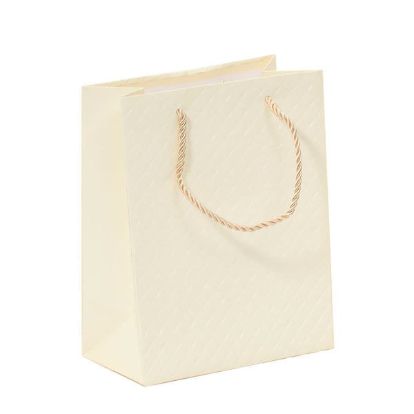 Lady Brigitte Small Cream Gift Bag, Pack 40