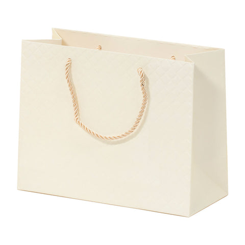 Lady Brigitte Medium Cream Boutique Bag, Pack 40 (80p each)