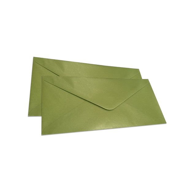 Pearlescent Envelopes DL Pistachio, Pack 1000