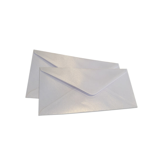 Pearlescent Envelopes DL Snow White, Pack 1000