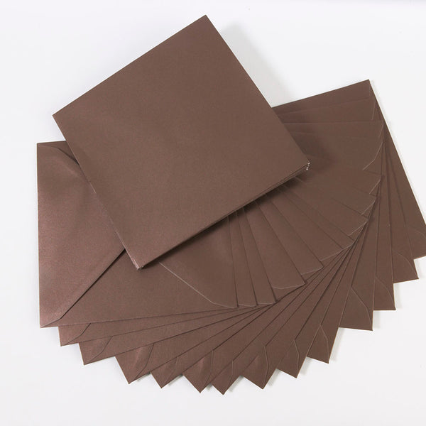 Pearlescent Envelopes Square Dark Chocolate, Pack 1000