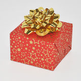 Gift Wrap Sheets - Dazzling Red Gold Star (Pack of 25 sheets)