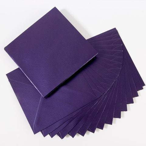 Pearlescent Envelopes Square Deep Purple, Pack 1000