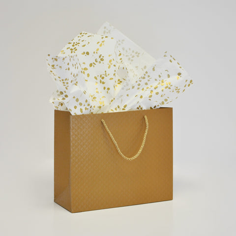 Designer Tissue - Forest Art Gold on White (240 Sheets)