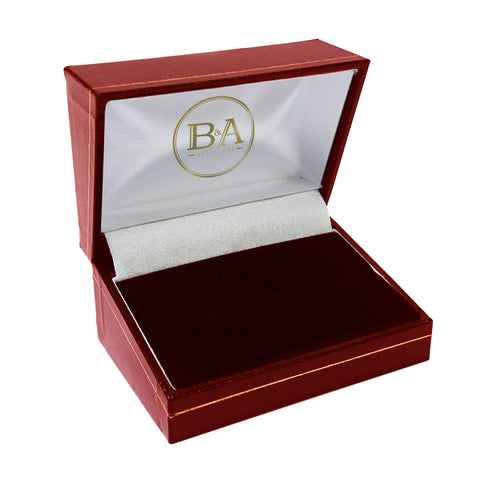 Regent Double Ring box, Red with gold trim