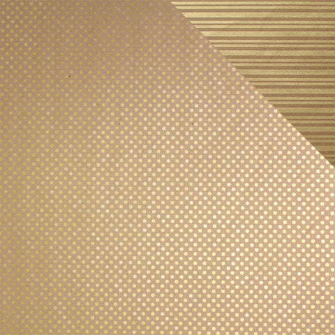 Gift Wrap Sheets - Eco-Spot Stripe Gold on Kraft (Pack of 25 sheets)
