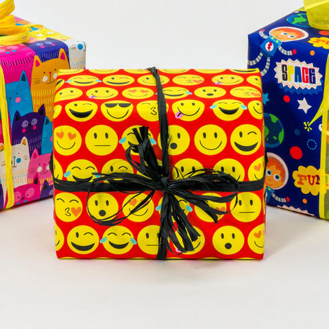 Emoji in Red Novelty Counter Roll (100m x 50cm)
