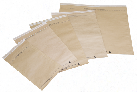 Eco-friendly Mailing Bags in Plain Natural Kraft (5 sizes) 250 or 500