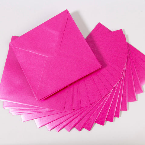 Pearlescent Envelopes Square Fuchsia, Pack 1000
