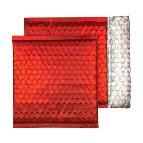 Glitzy Christmas Red Matt Jiffy Bags (165mm x 165mm - pack 100)