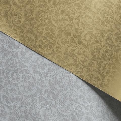 Gift Wrap Sheets - Gold Silver Leaf 7489 (Pack of 25 sheets)