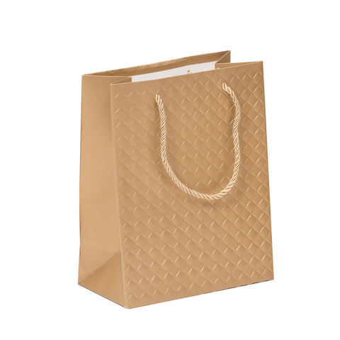 Lady Brigitte Small Gold Gift Bag, Pack 40