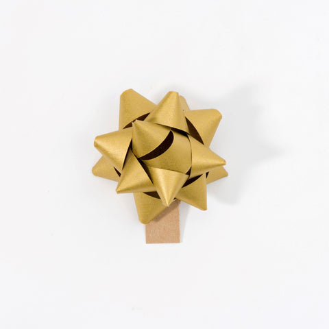Recycled Bows - Gold (Pack 50) Single sided