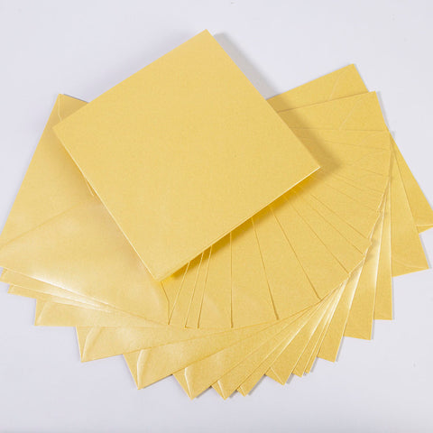 Pearlescent Envelopes Square Golden Yellow, Pack 1000