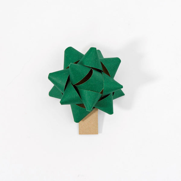 Recycled Bows - Green (Pack 50) Single sided