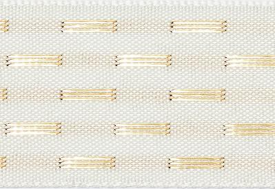 Ivory Gold Dash Ribbon cut to 80CM (24 pieces)
