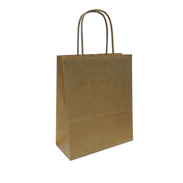 Kraft Paper Carrier Bag, 180x220x80 - XS (PACK 300)