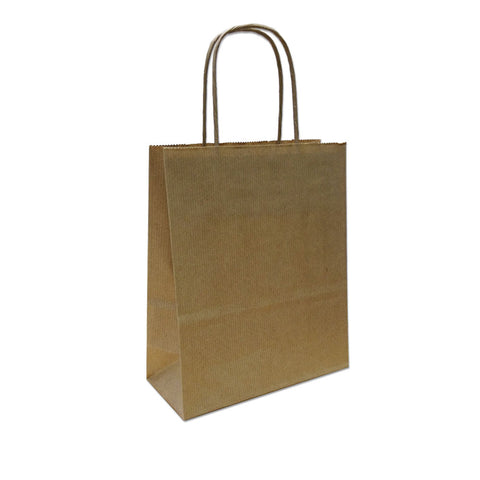Kraft Paper Carrier Bag, 180x250x80 - XS (PACK 300)