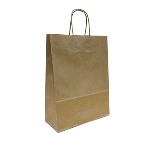 Kraft Paper Carrier Bag, 260x350x110 - Small (Pack 250)