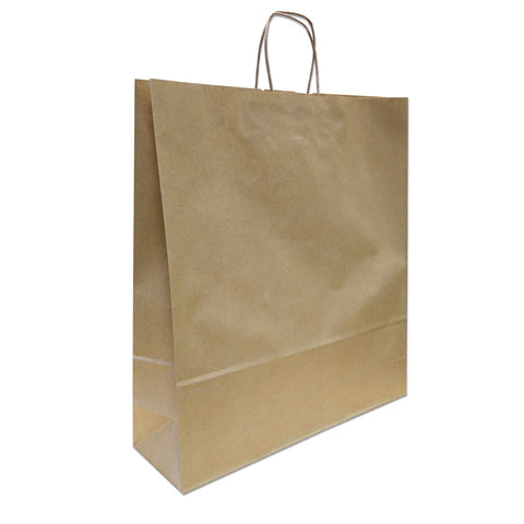 Kraft Paper Carrier Bag, 450x480x170 - Large (Pack 250)