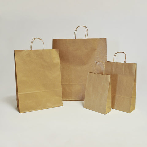 Kraft Paper Carrier Bag - 4 sizes