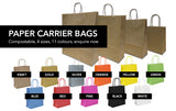 Kraft Paper Carrier Bag, 230x320x100 - Small (Pack 250)