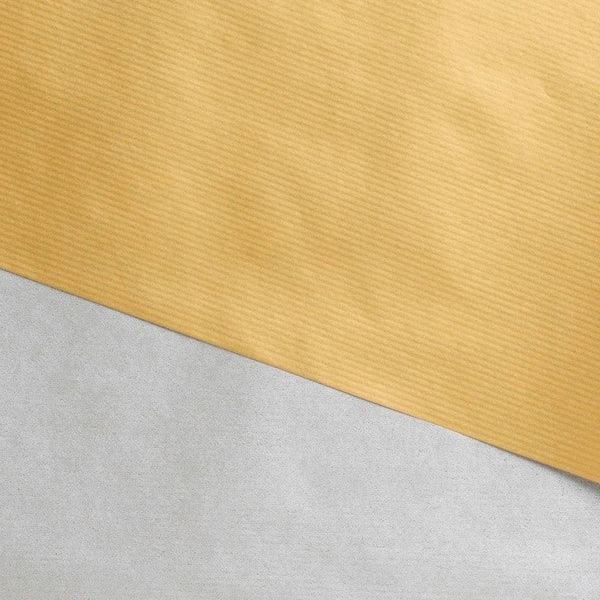 Gift Wrap Sheets - Kraft Gold Silver Double-sided (Pack of 25 sheets)