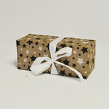 Kraft Stars Black Giftwrap Counter Roll