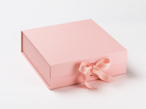 Large Pale Pink Luxury Gift box with magnetic closure, and choice of ribbon (Pack of 12)