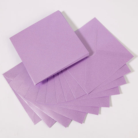 Pearlescent Envelopes Square Lilac, Pack 1000