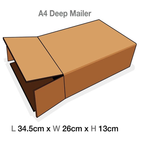 Brown Mailing Cartons to suit A4 Deep Luxury Gift boxes