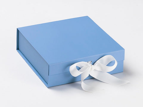 Medium Pale Blue Luxury Gift box with magnetic closure, and choice of ribbon (12)