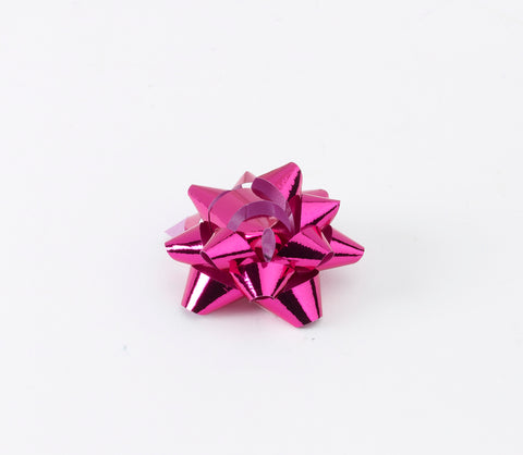 Metallic Cerise Pink Small Bows (50)