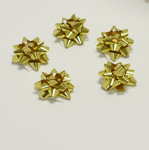 Metallic Gold Micro Bows (100)