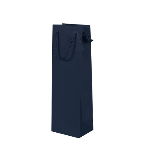 Plain Matt Navy Bottle Bag, Pack 12 (£1.45 each)