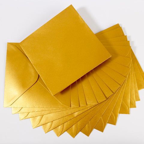 Pearlescent Envelopes Square Old Gold, Pack 1000