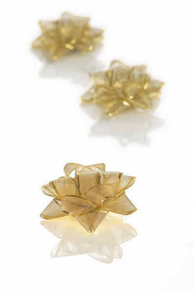 Oslo Gold Small Bows 50mm dia (Pack 30)