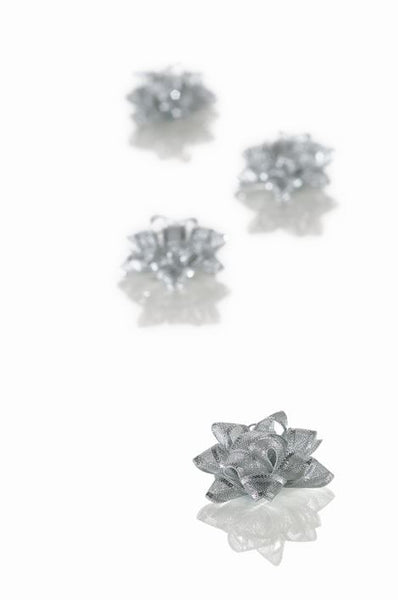 Oslo Silver Small Bows 50mm dia (Pack 30)