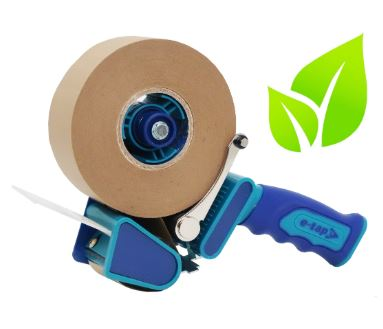 Eco-friendly Kraft Paper Packaging Tape + Dispenser (36 Roll Starter Kit)