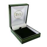 Regent Pendant box, Green with gold trim